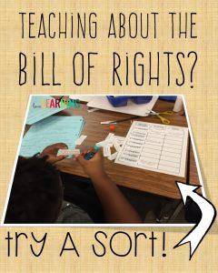 Bill of Rights Sort Activity