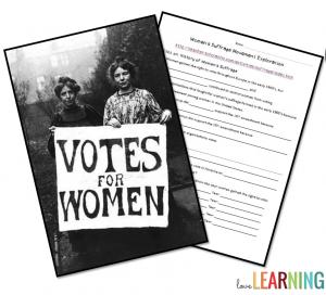 Women's Suffrage Internet Activity